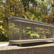 Visualisierung des Pavillons, dessen grundfläche 37 Quadratmeter beträgt.