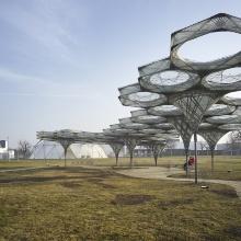 Installationsansicht Vitra Campus »Elytra Filament Pavilion«, 2017