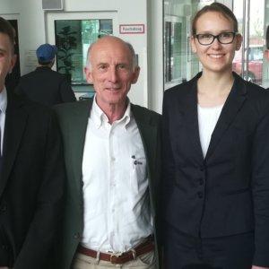 PAPELL Team Bonn von links nach rechts: Manfred Ehresmann, Gerhard Thiele (Jury), Franziska Hild, Nicolas Heinz