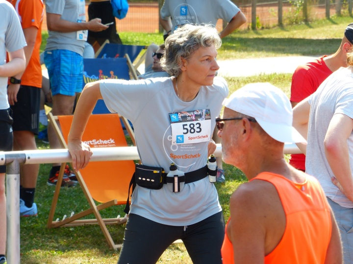 Simone Rehm, Prorektorat Informationstechnologie, startete über die 12 Km-Distanz