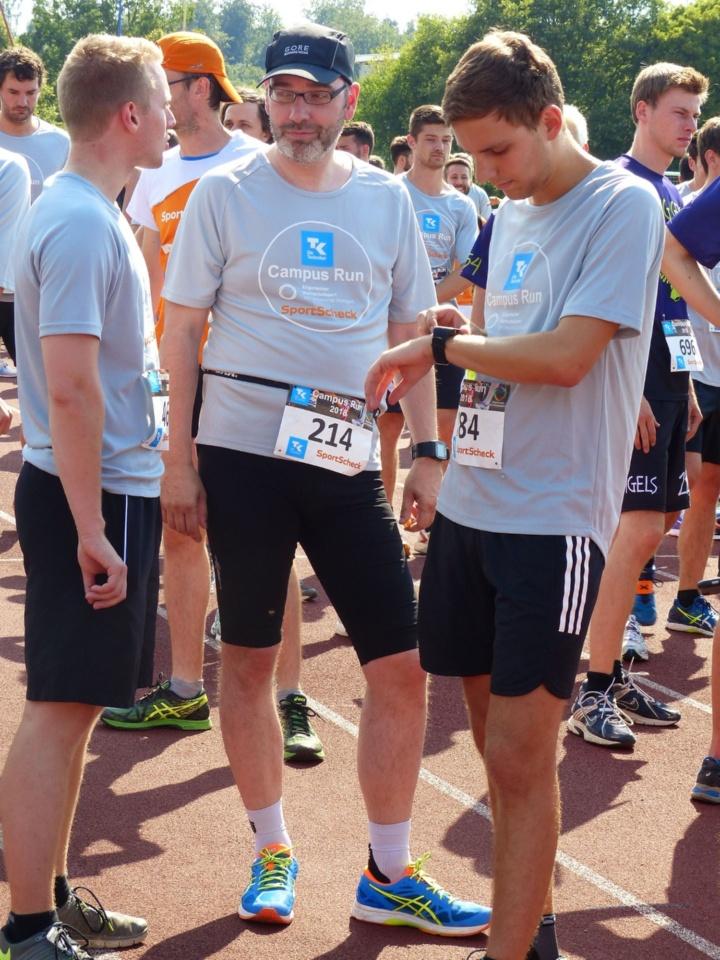 Auch Kanzler Jan Gerken nahm teil und stellte sich der Kilometer-Runde