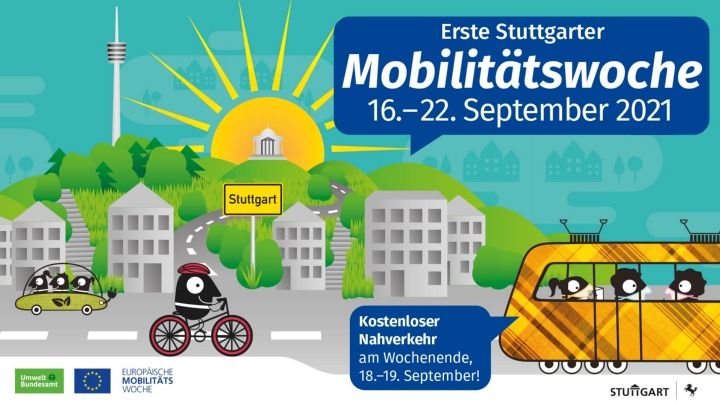 Logo of the first Stuttgart Mobility Week from September 16 to 22, 2021