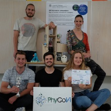 Students of the iGEM Team win the prize for the most innovative reactor