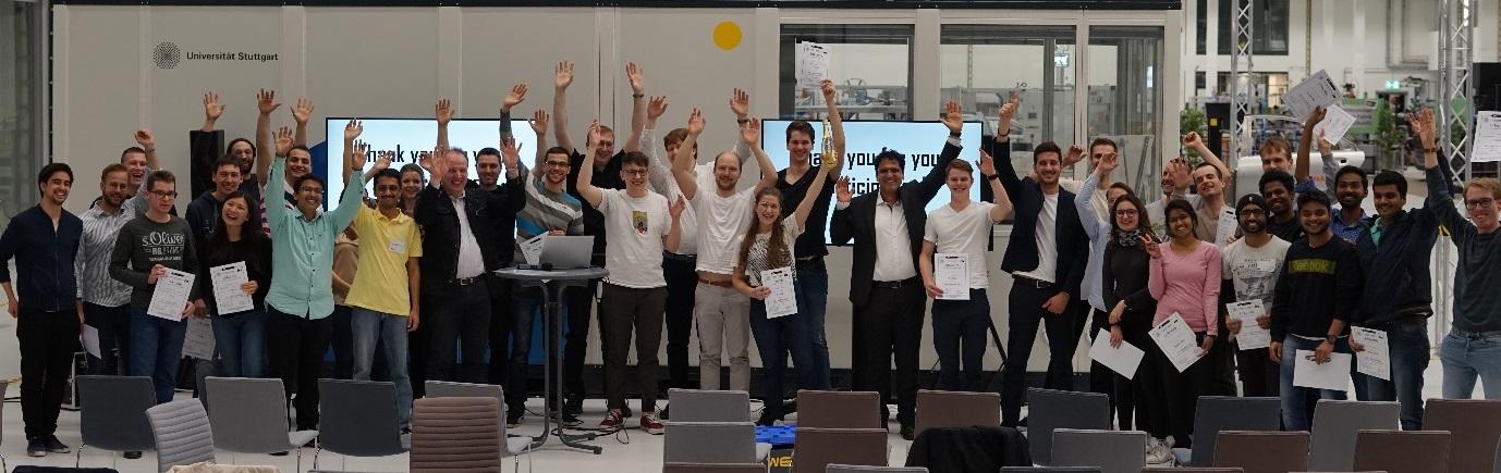 Gruppenbild-Teilnehmende des IVS Hackathon