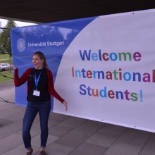 Student welcomes international students.