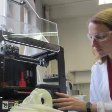 Verschiedene Uni-Institute bieten Workshops an, wie 3D-Drucken am Institut für Kunststoff-technik.