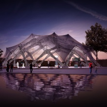 Press release 9: Bionic fibre pavilion Copyright: University of Stuttgart