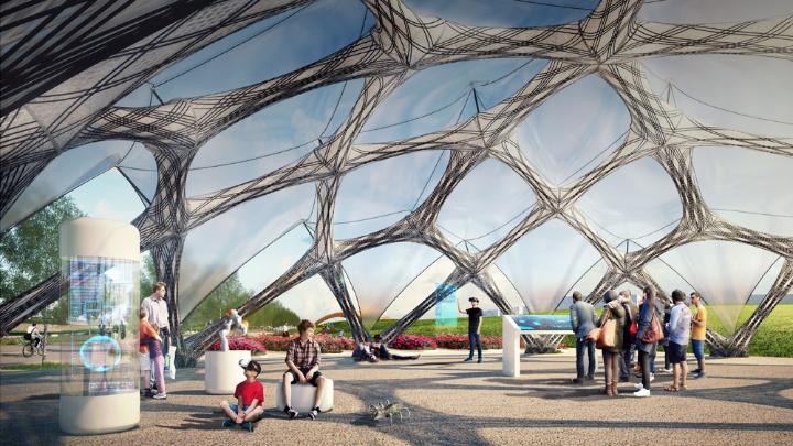 Bionic fibre pavilion