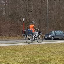 Presseinfo 18: Ein mit Messgeräten bestücktes E-Bike der Universität Stuttgart ist in diesen Tagen in Stuttgart unterwegs, um Informationen zur Luftverunreinigung zu gewinnen., Copyright: