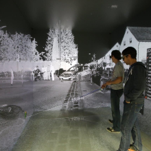 Press release 19: Augmented reality in vehicle development and safety research Copyright: University of Stuttgart /HLRS