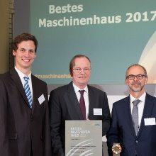 "Press release 35: Prof. Hansgeorg Binz at the awards ceremony for the VDMA University Prize ""Bestes Maschinenhaus 2017"" in Berlin.  Copyright: Reiner Freese"