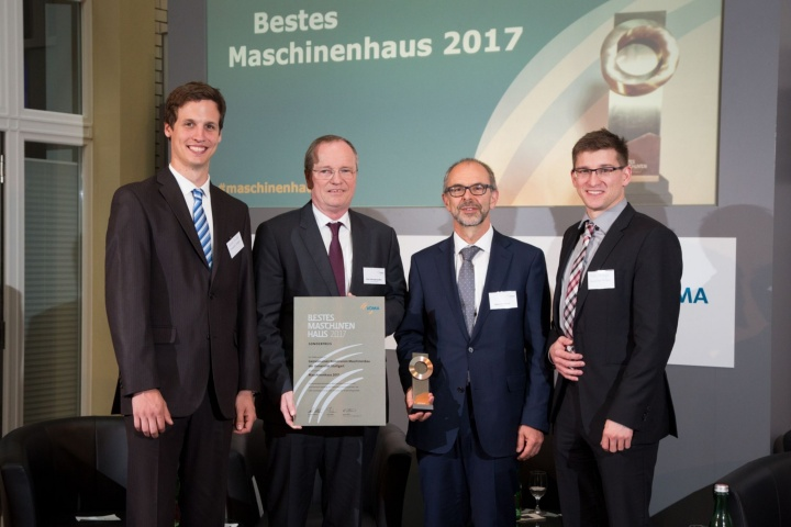 "Prof. Hansgeorg Binz at the awards ceremony for the VDMA University Prize ""Bestes Maschinenhaus 2017"" in Berlin.  (c) Reiner Freese."