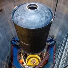 Der Booster-Demonstrator im 32 Meter tiefen Prüfschacht der MPA.