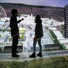 Kooperative VR-Visualisierung eines Mehrgenerationenhauses.