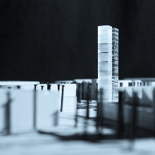 Model of the world's first adaptive high-rise building.