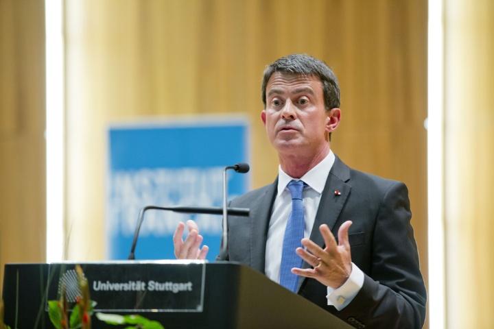Frankreichs Premierminister a.D. Manuel Valls  (c) Universität Stuttgart / Uli Regenscheit