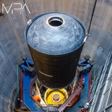 Press release 65: The booster demonstrator upon delivery.  Copyright: University of Stuttgart/MPA