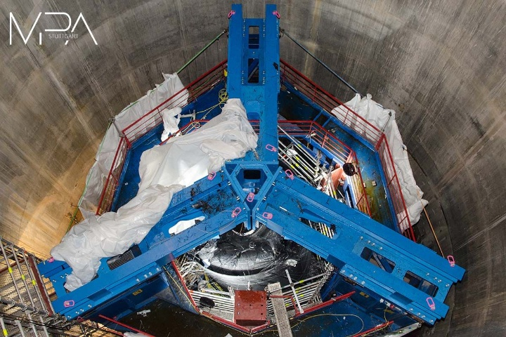 View down the testing shaft after the test.  (c) University of Stuttgart/MPA