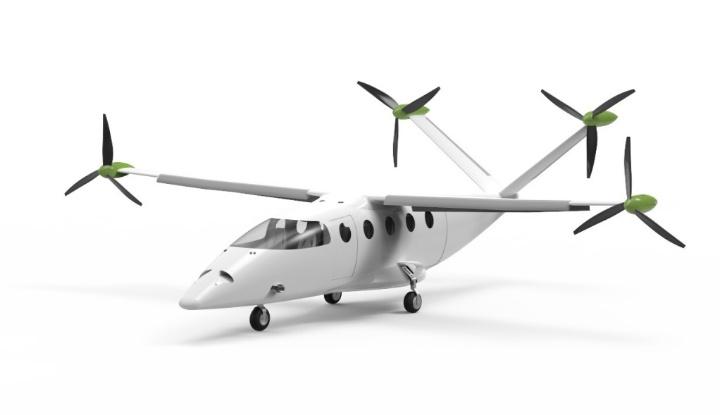 Design of the passenger airplane.