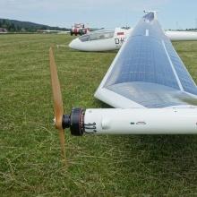 wingtip propeller am Solarflugzeug icaré