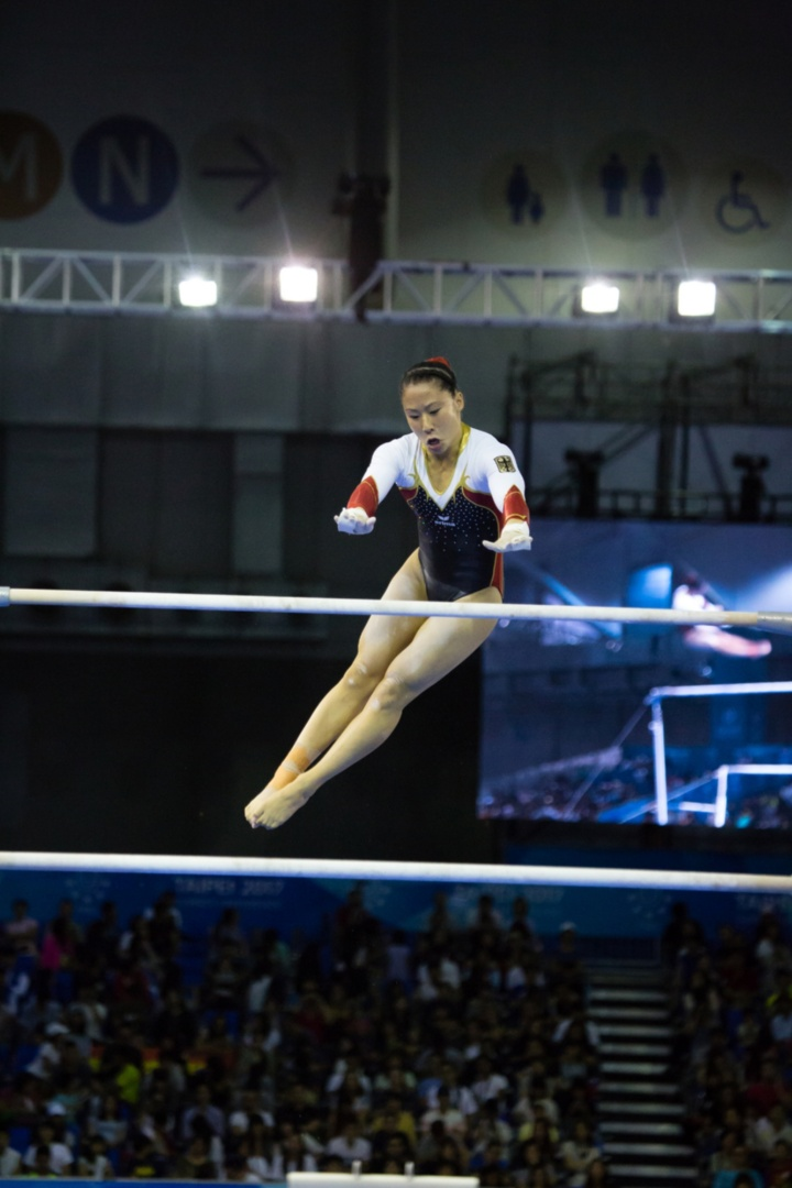 Kim Bui, won the silver medal on the uneven bars at the summer Universiade in Taiwan. (c) adh/Arndt Falter