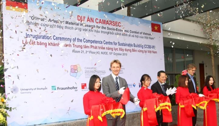 Die Eröffnungsfeier des CAMaRSEC Projektbüros und des Competence Centre for Sustainable Building in Vietnam (c) NUCE