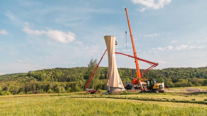 Aufbau des Urbach Turms