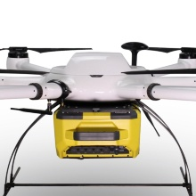 A heavy-duty drone with a portable FTIR spectrometer.