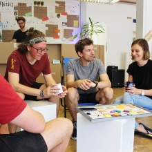 The University of Stuttgart has established a start-up café in the former Wittwer bookstore.