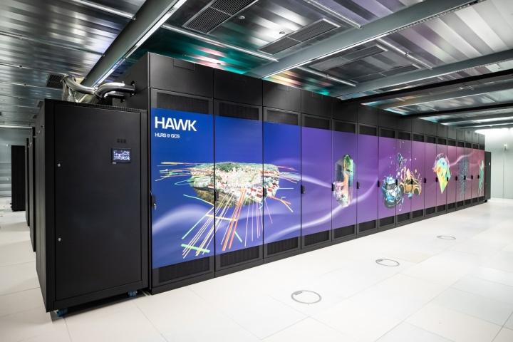 Hawk, einer der schnellste Supercomputer Deutschlands.