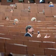 Hörsaal bei IER-Jubiläum unter Corona-Bedingungen