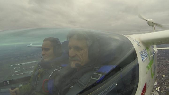 """e-Genius"" flown by record pilot Klaus Ohlmann and Ingmar Geiß (c)"