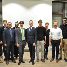 Prof. Bertsche and the finalists of competition