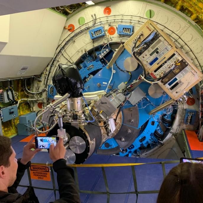 Die hochauflösende Infrarotkamera an Bord von SOFIA.