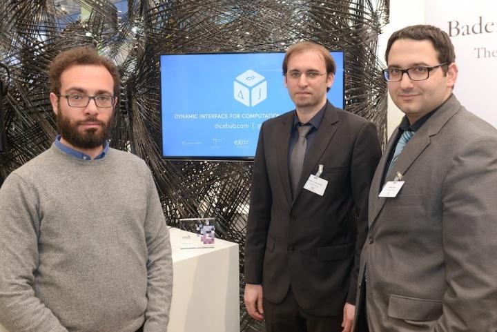 Vernetzen Ingenieure und Wissenschaftler: Hasan Mashni, Rostyslav Lyulinetskyy und Hüseyin Göksu vom Startup DICEhub.