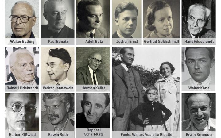 Einige der vielen Personen, die in der NS-Zeit verfolgt und entrechtet wurden.