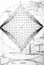 Schnitte und ein Messpunkt vom Vierpunktmessmodell und eine Skizze der Versuchsanordnung