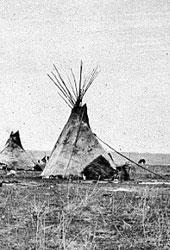 Cheyenne Camp, Western Plain, USA