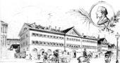 Das erste Unterrichtsgebäude