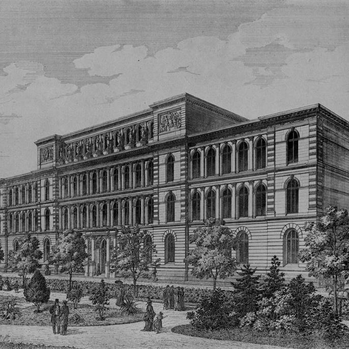 1864 zog die Schule an den heutigen Standort am Stadtgarten
