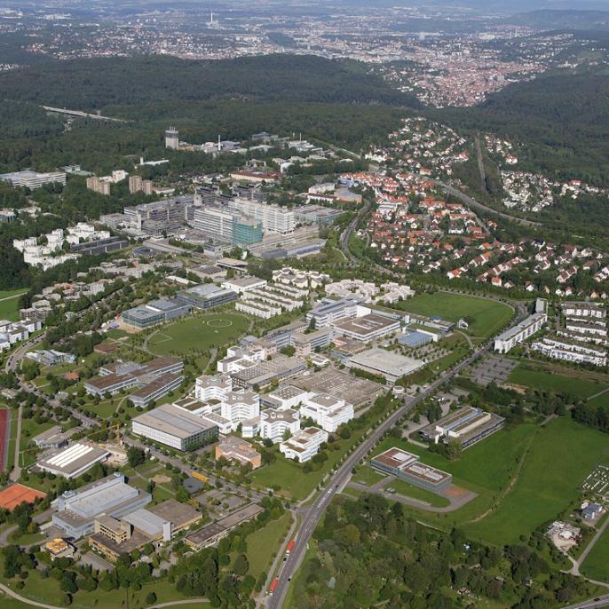 Der Forschungscampus in Vaihingen wächst. Neben der Universität Stuttgart sind andere Forschungs- und Hochschulinstitute hier untergebracht.